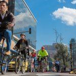 Bicicleta en día sin carro en Bogotá
