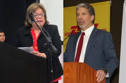 Gloria María Borrero y Kevin Whitaker