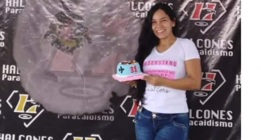 Luisa María Jansajoy Peña, minutos antes del accidente