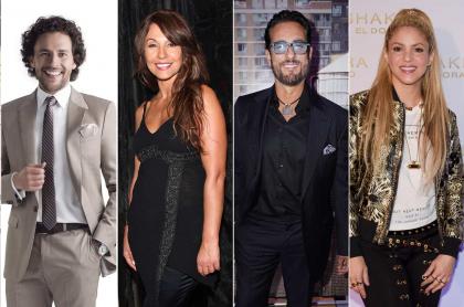 Los actores Sofía Vergara, Iván López, Amparo Grisales y Miguel Varoni, y la cantante Shakira.