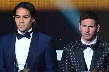 Falcao García y Lionel Messi