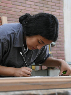 Trabajadora colombiana