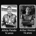 Niños fallecidos por el incendio en la sede de Flamengo