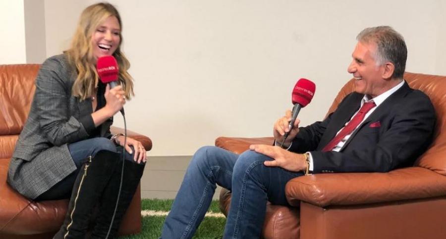 Carlos Queiroz y Andrea Guerrero