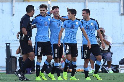 Festejo de Uruguay en el Sudamericano Sub-20