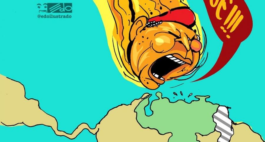 Hugo Chávez, pintado como un meteorito