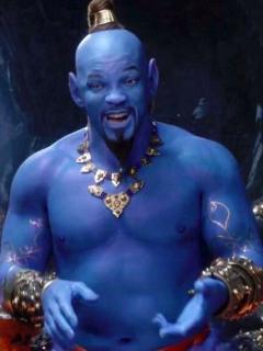 Will Smith como el genio de la lámpara en 'Aladdín'