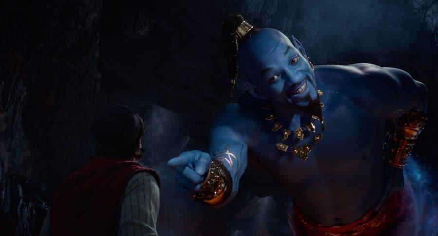 Will Smith como el genio de Aladdin