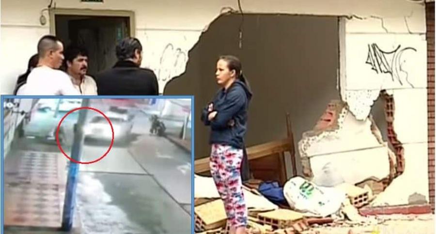 Así quedó la vivienda donde terminó estrellada la camioneta