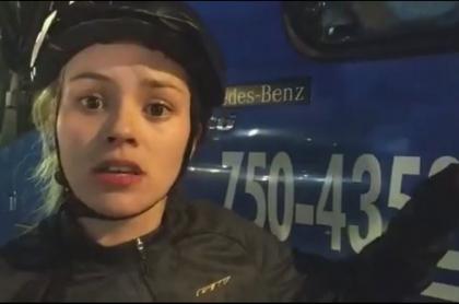 Ciclista que denuncia acoso de conductor del SITP
