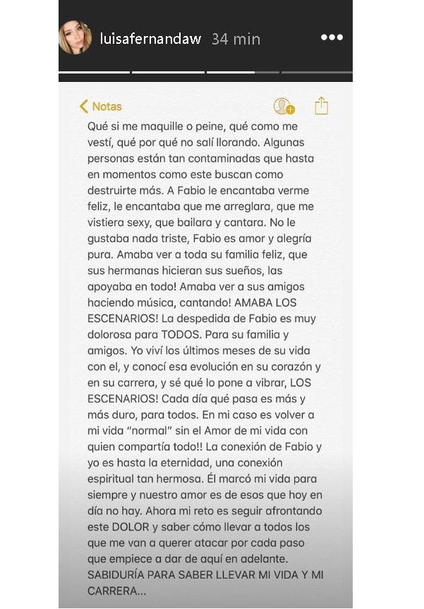 Palabras de Luisa FErnanda W