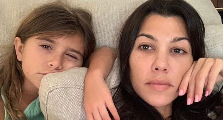 Penelope Disick y Kourtney Kardashian