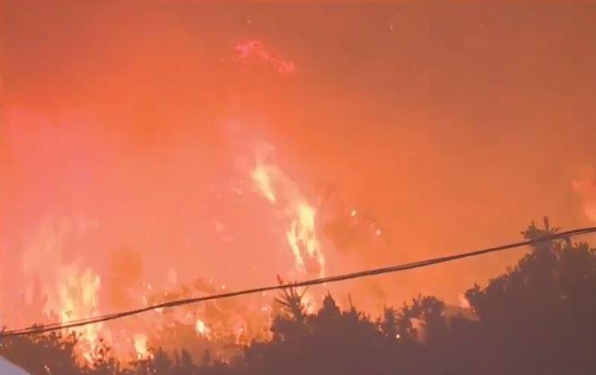 Incendio sur de Bogotá