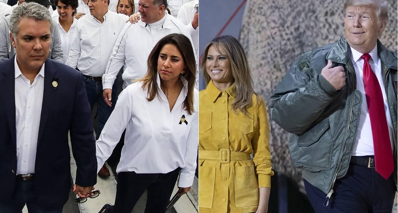 7d955502fb Las pintas con que Duque y su esposa llegaron a visitar a Trump y a su mujer