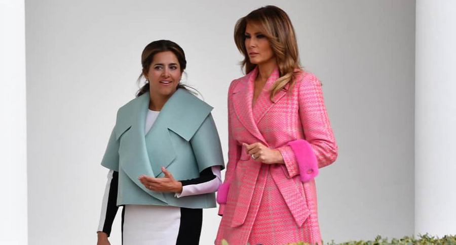 María Juliana Ruiz y Melania Trump, primeras damas de Colombia y Estados Unidos, respectivamente.