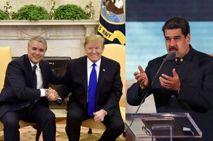 El presidente de Venezuela, Nicolás Maduro, habla en Caracas.