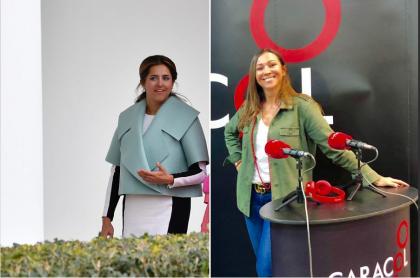 María Juliana Ruiz, primera dama de Colombia, y Darcy Quinn, periodista.