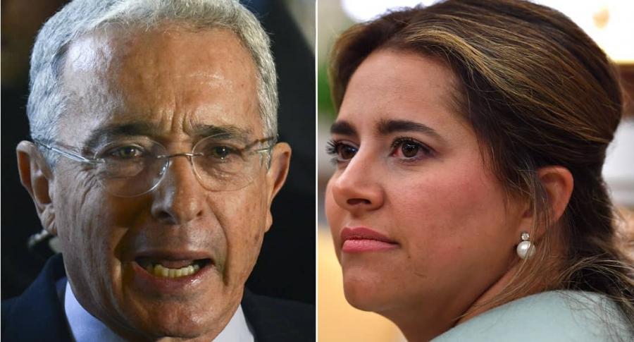 Álvaro Uribe, expresidente y senador, y María Juliana Ruiz, primera dama.