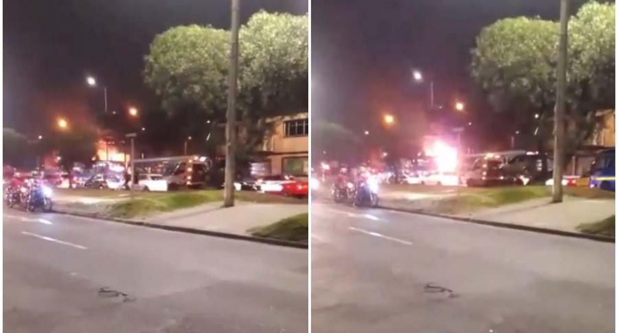 Explosión en gasolinera de Bogotá.