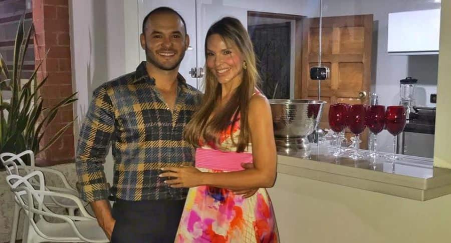 Luis Miguel Zabbaleta, dermatólogo, y Paula Andrea Betancur, exreina.