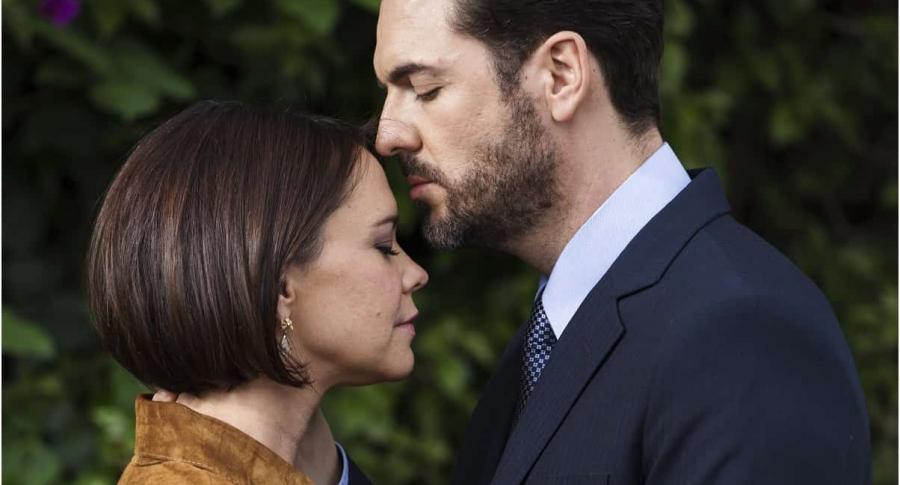 Natasha Klauss y Rodrigo Candamil, actores.