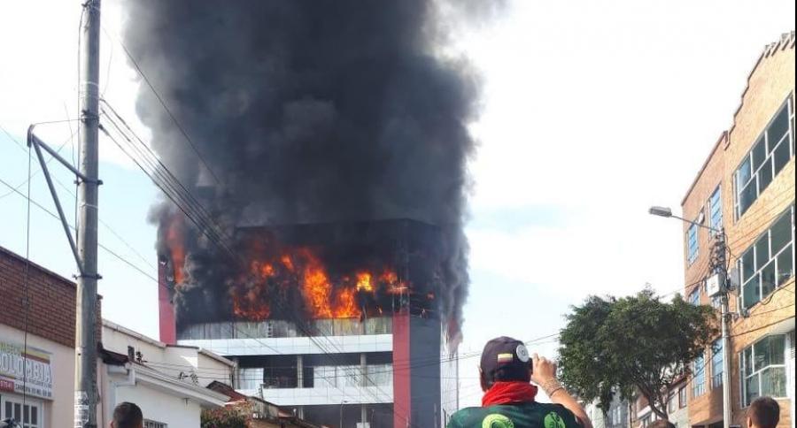 Incendio en Barrios Unidos