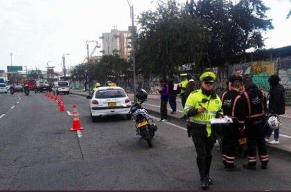 Policía Bogotá, comparendos, movilidad