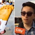 Stiven Claros, joven sancionado por comprar empanada en la calle
