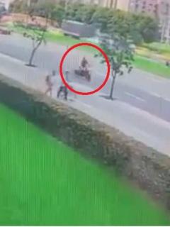 Accidente de motociclista