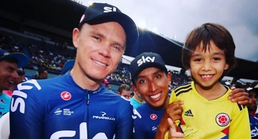 Christopher Froome y Egan Bernal