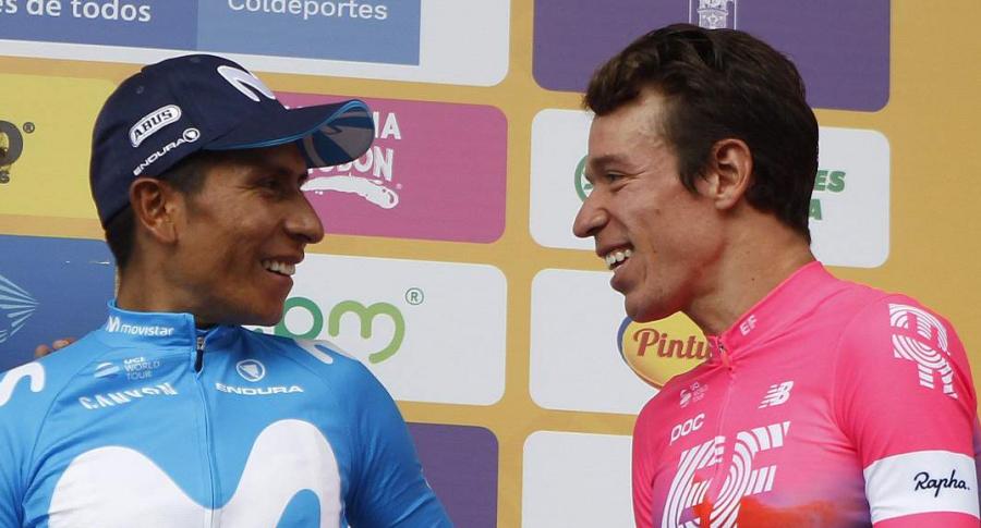 Nairo Quintana y Rigoberto Urán