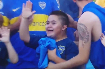 Niño hincha de Boca Juniors