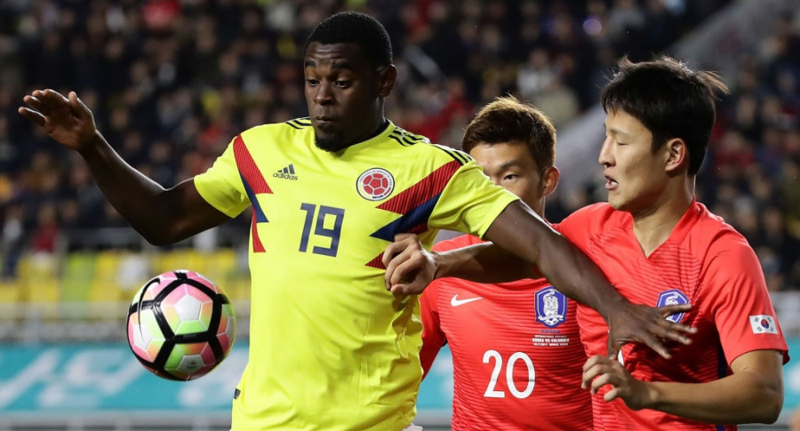 Duván Zapata en Colombia Corea 2017