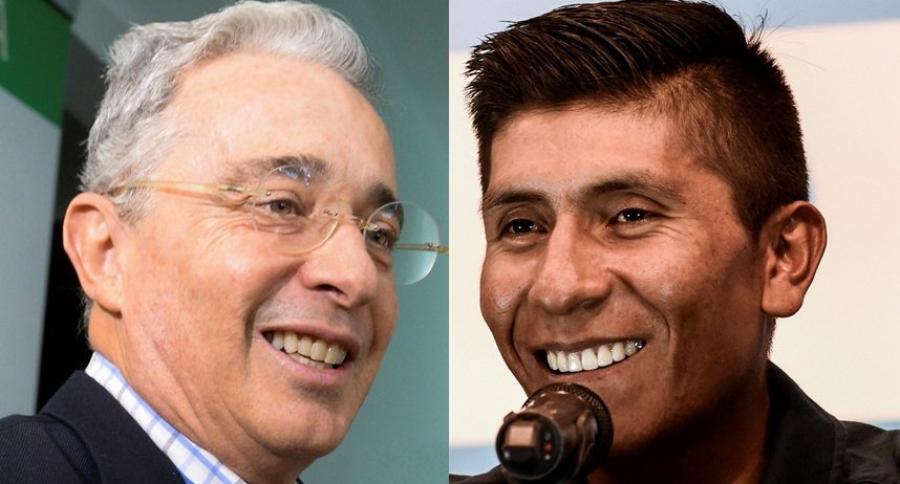 Álvaro Uribe y Nairo Quintana
