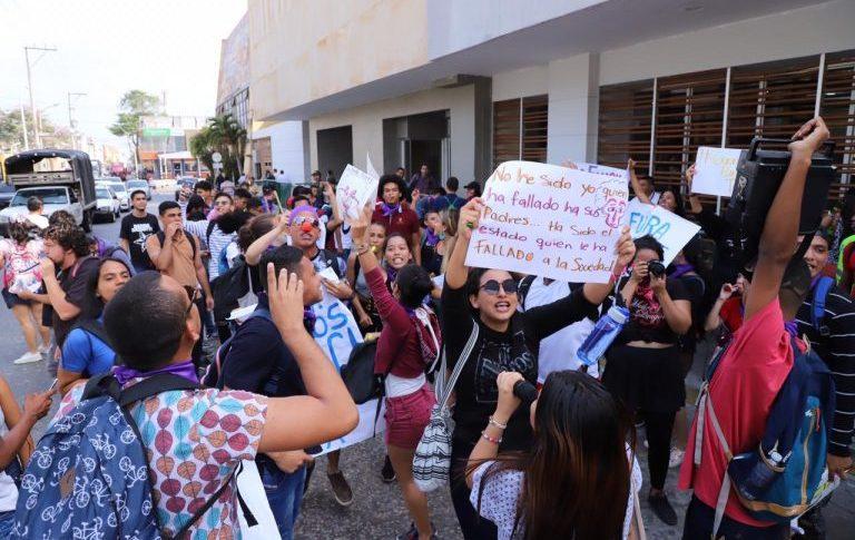 Plantón estudiantes Uniatlántico