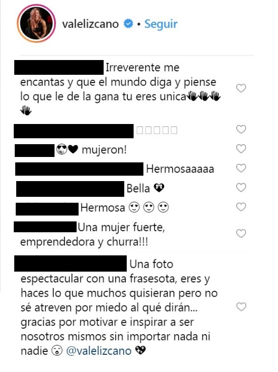 Comentarios post Valentina Lizcano