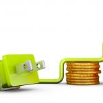 Ilustración de ahorro en energía eléctrica