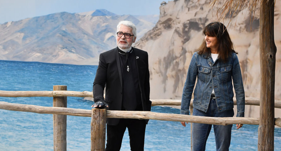 Karl Lagerfeld y Virginie Viard