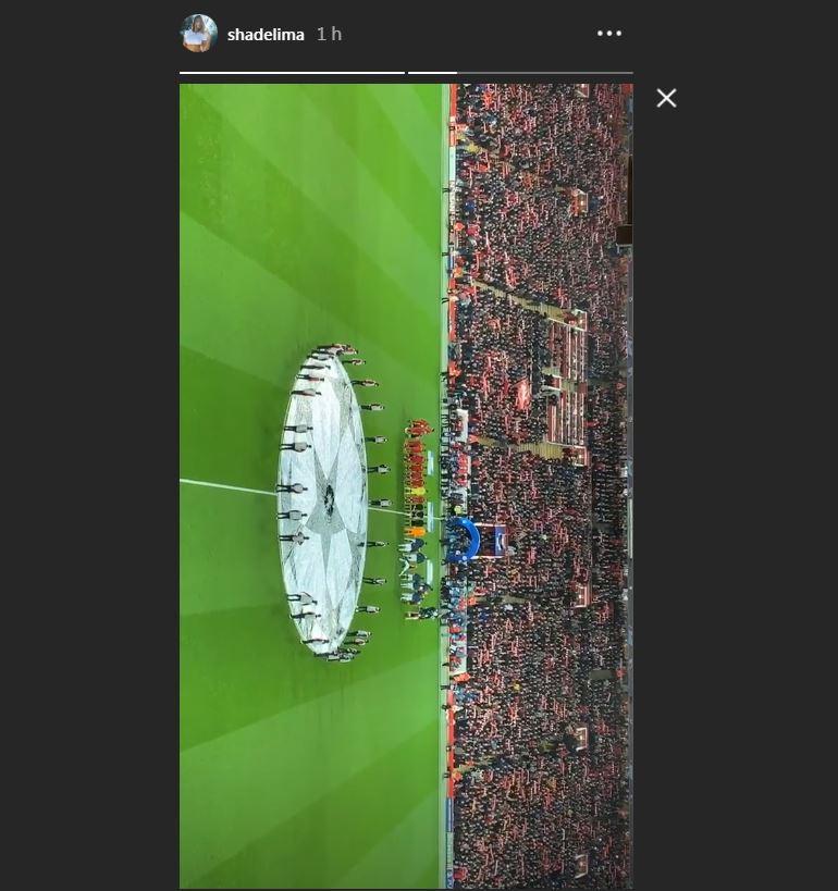 Shannon de Lima en el estadio del Liverpool