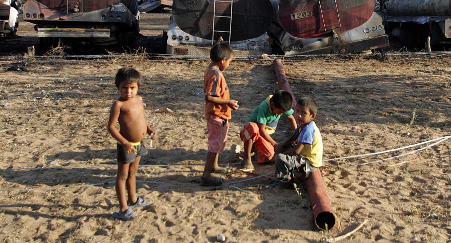 Niños wayúus en Maicao