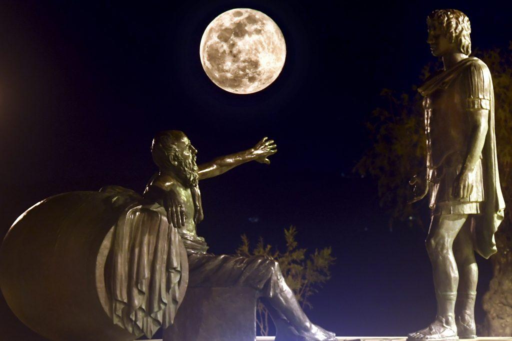 Superluna en Atenas, Grecia