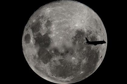 Superluna en Bahía Blanca, Argentina