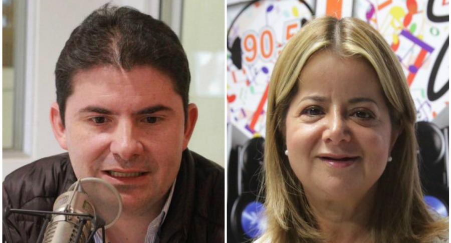 Luis Felipe Henao y Elsa Noguera