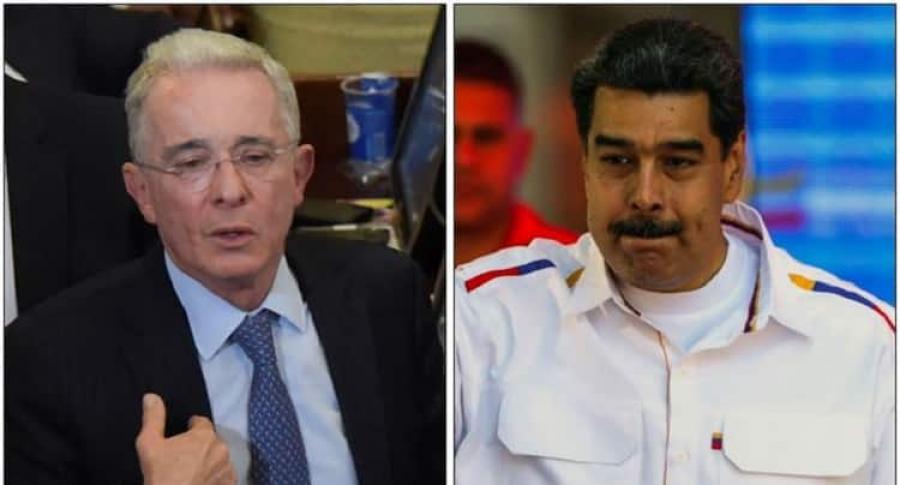 Álvaro Uribe y Nicolás Maduro