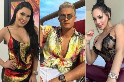 Ana del Castillo, Juan Mindiola y Andrea Valdiri, cantantes.