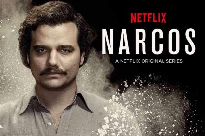 Afiche promocional de 'Narcos' de Netflix