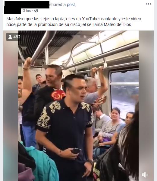 Comentarios a video del Metro