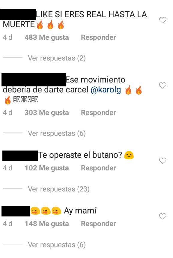 Comentarios Karol G