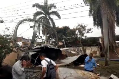 Caída de tanque causó afectaciones en Candelaria, Valle del Cauca