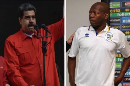 Nicolás Maduro y Faustino Asprilla